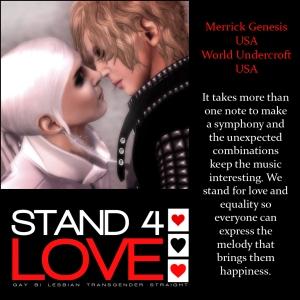 World and Merrick Stand 4 Love